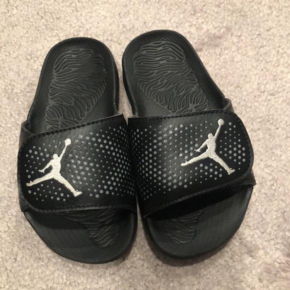 2ed25f4339035 Jordan Other - EUC Toddler Boy Jordan Velcro Adjustable Slippers